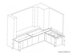 卫浴产品autocad三维线稿尺寸图