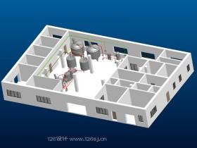 食品工厂3D建模及效果图