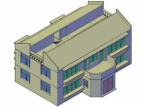 autocad建筑3D模型欣赏