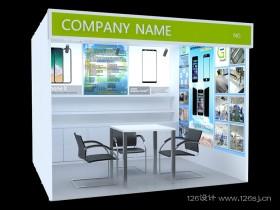手机钢化膜产品展厅3Dmax效果图作品欣赏