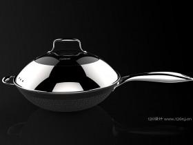 炒锅产品3D建模渲染效果图作品展示