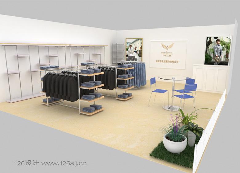 服装展会展厅设计3d效果图