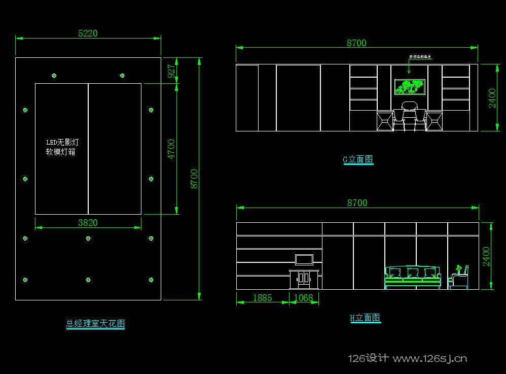 室内设计AutoCAD施工图作品欣赏