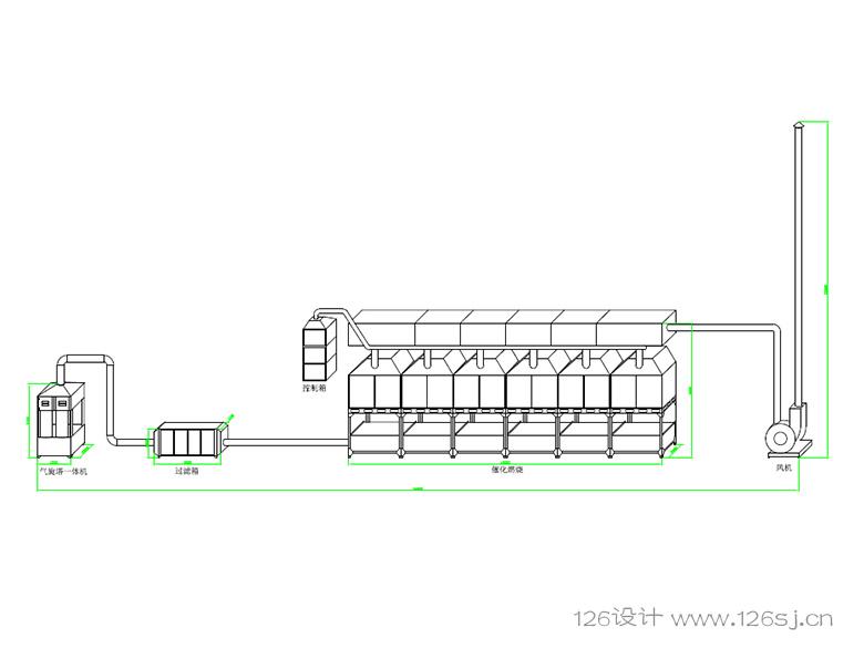 生产设备流程CAD图
