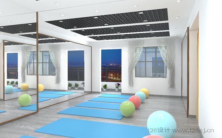 瑜伽操房室内3D效果图